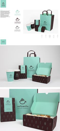 Sally Mills artisan baking branding by Sinead Kruis, via Behance cookies for breakfast #packaging PD