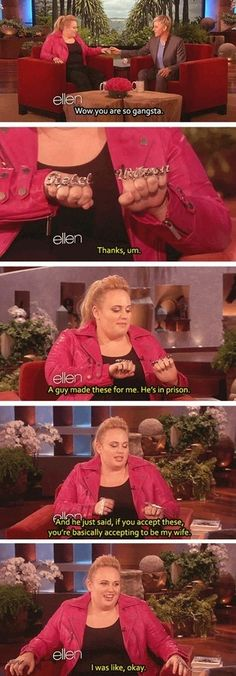 """hahaha Rebel Wilson (aka Fat Amy off of """"Pitch Perfect)."""