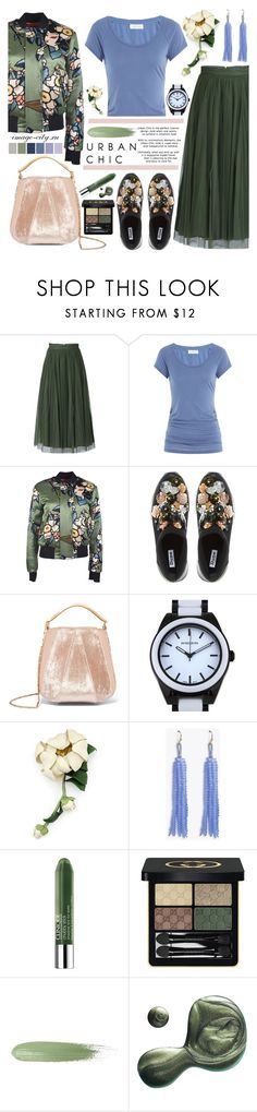 """""""Urban chic"""" by lyusilgrig ❤ liked on Polyvore featuring Jolie Moi, Velvet, Dsquared2, Dune, Eddie Borgo, Gucci, GUESS, Clinique and Illamasqua"""