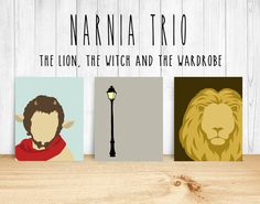 Narnia Minimalist Trio - The Lion the Witch and the Wardrobe