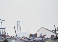 Erno Enkenberg - Great wave - 2012 - oil on canvas - 160x220cm