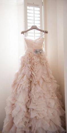 I kinda like this. I think it's the Blush color! Long Blush Sweetheart Wedding Dress - Sweetheart Strap Wedding Dress / Floral Wedding Gown / A-line Bridal Dress Wedding Robe, Blush Pink Wedding Dress, Blush Pink Weddings, Sweetheart Wedding Dress, Wedding Attire, Blush Gown, Tulle Wedding, Floral Wedding, Blush Bridal