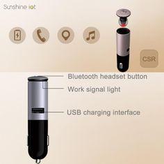 Sunshine iot S1 Bluetooth 4.1 Headset Sports Handsfree In Ear Stereo Wireless Earphone USB QC 5V 3.1A Car Charger Sale - Banggood.com
