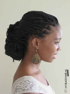 Low Bun | 21 Awesome Ways To Style Your Box Braids And Locs