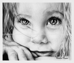 Custom Portrait Children Baby Portrait Face Eyes by NataliaDENGER, $85.00