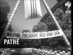 Title - 'Ike welcomes Vietnam Chief'. Washington DC, United States of America (USA). Various shots of President Ngo dinh Diem of . Blair House, Dwight Eisenhower, Welcome Banner, South Vietnam, Washington Dc, Presidents