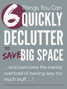 Simple actionable tips on how to do a quick declutter of your home. Don't put it off... start the decluttering now! Just let us show you how...