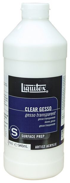 Liquitex Professional Clear Gesso Surface Prep Medium, 32-oz......... Prevents bleeding in Journaling BiblE