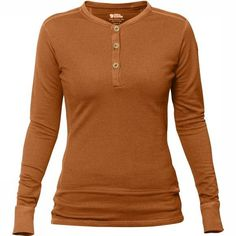 FjallRaven Lappland Merino Henley LS W Dark Garnet - us Women's Henley, Henley Shirts, T Shirts, Tees, Lappland, Long Sleeve Henley, Long Sleeve Tops, Long Sleeve Shirts, Sweater Layering