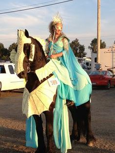 Sea Princess; designed by Horse Costumes by Pamela.