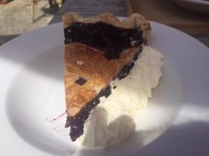 Blueberry Pie dessert, Too much fun at the Country Market with all the sculptures and things to