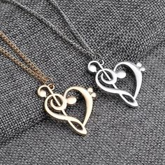 🎶Treble Heart Necklace  🛍 50%OFF, Just Today! 🛒 Shop Now!! Worldwide Shipping ✈️🌎 ⭐️ Checkout with $5 Coupon Code: FOLLOW 📦 Visit our store! Link in bio @musicsavesall! ➖➖➖➖➖➖➖➖➖ Follow us @musicsavesall  Follow us @musicsavesall  Follow us @musicsavesall . 🔥🔥Slay your music style with us! More awesome products are coming!🔥🔥 #musiclove #musiccity #musicmonday#musicblo #musicvideo #musicstudio#musiclovers #musicart #musicos#musicschool #musiclive #musicallyfa#musicgram #musicality Heart Pendant Necklace, Music Note Necklace, Heart Shaped Necklace, Love Necklace, Necklace Types, Pendant Jewelry, Necklace Chain, Music Jewelry, Heart Jewelry