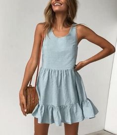 Casual dresses for teens - Vest Pleated Large Dress Mini Dress – Casual dresses for teens Teen Dresses Casual, Simple Short Dresses, Modest Dresses, Elegant Dresses, Pretty Dresses, Sexy Dresses, Dresses For Work, Summer Dresses, Formal Dresses