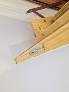 Fakro insulated attic ladder - Spaces - New York - Andru Construction LLC Attic Ladder, Clothes Hanger, Construction, Spaces, York, New Houses, Building, Hangers, Hanger Hooks