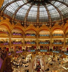 Galeries Lafayette - the most famous department store in Paris
