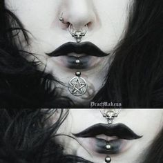Image sur le noir dans les choses gothiques par animanera - Image about black in Gothic things by animanera noir, alternative och dark bild på We Heart It Goth Makeup, Dark Makeup, Makeup Inspo, Makeup Art, Makeup Inspiration, Beauty Makeup, Dark Fantasy Makeup, Creepy Makeup, Estilo Dark