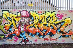 #graffiti #piece - graffiti wall - #burner  TIZER by JOHN19701970, via Flickr