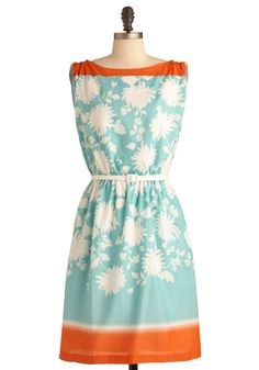 It Takes All Resorts Dress >> Oh what a happy dress this is! So pretty and such lovely colors too! via modcloth
