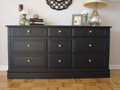 Dresser makeover - I want to paint my dresser black. I have this very old dresser sitting in my garage that I would love to paint black for my bedroom!!!