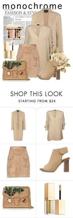 """One Colour: Head to Toe"" by janie-xox ❤ liked on Polyvore featuring Alexander Wang, Joseph, Balmain, GEDEBE, Stila and monochrome"