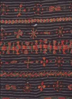 embroidery on a wedding shawl from Siwa Oasis, Egypt