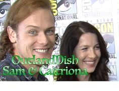 """Fun chat with Outlander stars, Sam Heughan and Caitriona Balfe! What does Sam say about """"Honeypot? Sam Heughan Caitriona Balfe, Sam Heughan Outlander, Sam Heugan, Sam And Cait, Outlander Casting, Outlander Gifs, Outlander Characters, E Claire, Honeypot"""