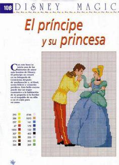PRINCESAS DE DISNEY PUNTO EN CRUZ | Aprender manualidades es facilisimo.com