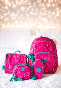 Back to school♡ Kipling Backpack, Kipling Bags, Backpack Purse, Emoji Backpack, Too Cool For School, Back To School, School Accessories, Cute School Supplies, Girl Backpacks