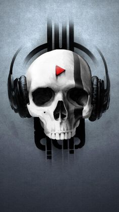 Customize your Lumia 1020 with this high definition Skull Music wallpaper from HD Phone Wallpapers! Skull Wallpaper, Music Wallpaper, Mobile Wallpaper, Nike Wallpaper, Skull Headphones, Music Headphones, Tattoo Caveira, Comic Anime, Skull Artwork
