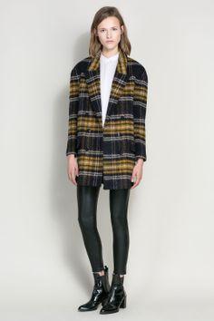 30 Top-Notch Zara Buys That Won't Break The Bank #refinery29 - Checked Wool Coat $79.99!