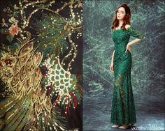 """""""Когда меня спрашивают, где я беру идеи, я смеюсь. Это так странно: мы так заняты тем, что рыщем снаружи в поисках способов и путей, что нам некогда заглянуть внутрь"""" Р.Бредбери  #вышивка #вышивание #рукоделие #цитаты #подборки #красота #мода #женщина #зеленый #платье #пайетки #кружево #музыка #идея #книги"""