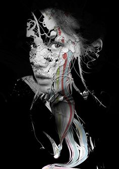 Art from black and white photos mixed with digital imagery by Spanish artist Alberto Seveso