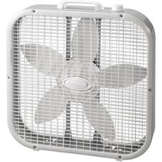 "Lasko 20"" Box 3-Speed Fan, Model #B20200, White"