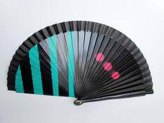 Abanico, Handfan, Fan, Modern fan, Custom, Hand painted de FisionGirl en Etsy