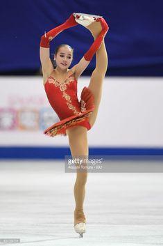 News Photo : Alina Zagitova of Russia competes in the Junior...