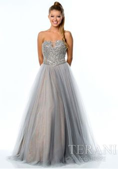 Terani Tulle Ball Gown Dress 151P0084