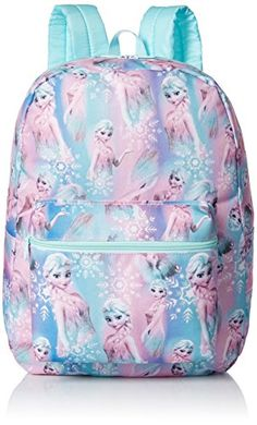 Kids' Backpacks - Disney Girls Frozen Elsa Print Backpack *** Continue to the product at the image link.