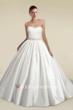 a258b0b0ec6b Beautiful Fabulous Strapless Draped Ball Gown Wedding Dress with Beadings  and Sequins - Cheap Wedding Dresses