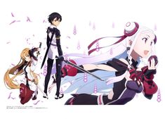 Tags: Scan, Sword Art Online, Yuuki Asuna, Official Art, A-1 Pictures, Kirigaya Kazuto, Yuna (Sword Art Online), Gekijouban Sword Art Online -Ordinal Scale-