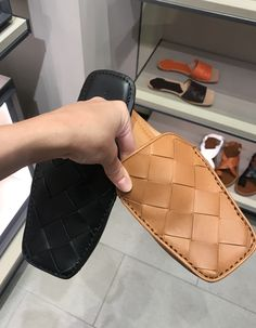 Oct 2019 - Bottega Veneta woven leather new mules in brown & black colors by PSL Half Shoes, Me Too Shoes, Tenis Casual, Casual Shoes, Kitten Heels Outfit, Shoes Ads, Shoe Boots, Shoe Bag, Denim Shoes