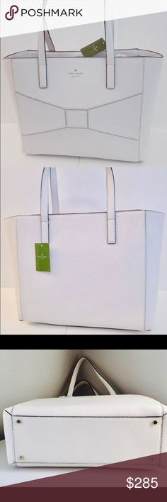 cc08086a5469 KATE SPADE Francisca Bridge Place Cream Tote KATE SPADE Francisca Bridge  Place Cream Stylish Tote New. Cream BagsLeather ...