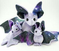 Cute Purple Bat Puppets