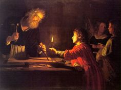 honthorst_childhood_of_christ by Defensio Fidei, via Flickr