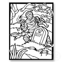 Halloween Coloring Page Postcards By LulusLand