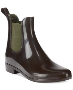 "Lauren Ralph Lauren Women's Tally Short Rain Booties - Shoes - Macy's; Don't let the rainy day put a damper on your style. Stay dry in the shiny Tally booties by Lauren Ralph Lauren. Imported Rubber upper Round closed-toe rain booties 1"" heel Man-made sole Please note: Shaft height and circumference may vary by size."