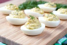 Paleo Dill Pickle Deviled Eggs | Plaid and Paleo Egg Recipes, Paleo Recipes, Low Carb Recipes, Real Food Recipes, Cooking Recipes, Yummy Food, Paleo Menu, Paleo Appetizers, Health