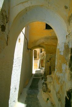 passages | pathways | trails | portals | steps | stairs | bridges | moving forward |  Pyrgos, Santorini island, Cyclades