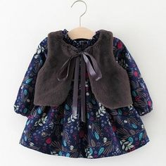 0ee024b5ac46 2Pcs Baby Girls Clothes Long-sleeved Floral · New Baby ProductsVelvetGirl  ...