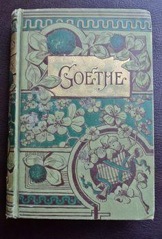Vintage Poetry Book Goethe Poetry Book by DomesticTitanVintage
