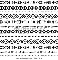 Tribal hand drawn background, ethic doodle pattern, ink illustration - Lynne Seawell's World Tribal Patterns, Doodle Patterns, Print Patterns, Cruces Tattoo, Tribal Images, Tribal Drawings, Mayan Symbols, Viking Symbols, Egyptian Symbols